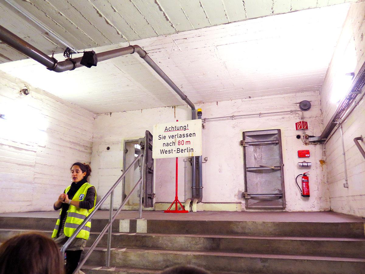 Visite des tunnels avec l'association Berliner Unterwelten